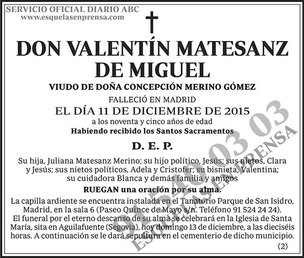 Valentín Matesanz de Miguel